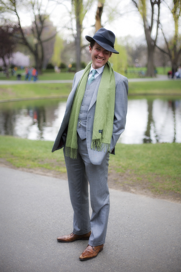 Dapper and gracious man at the Public Garden