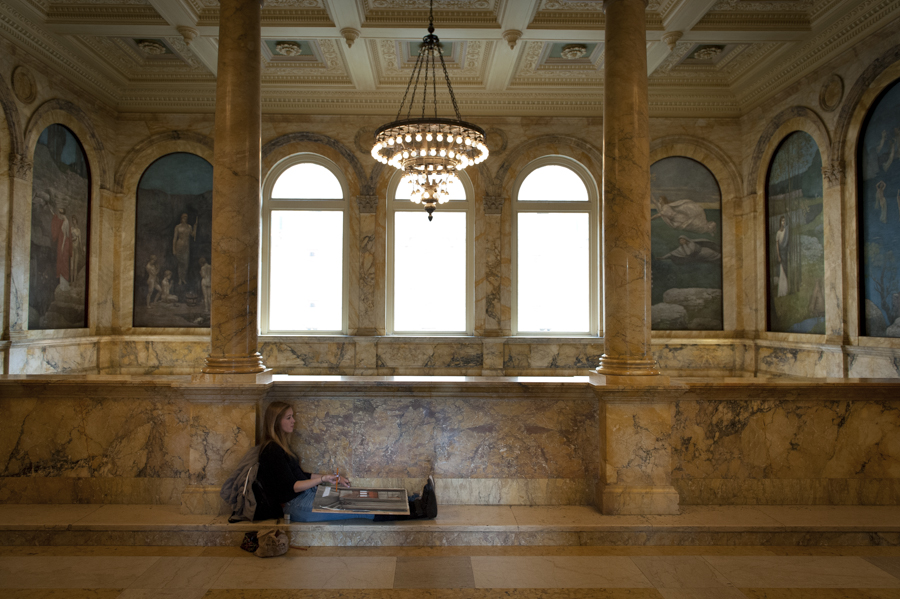 Artist at the Boston Public Library