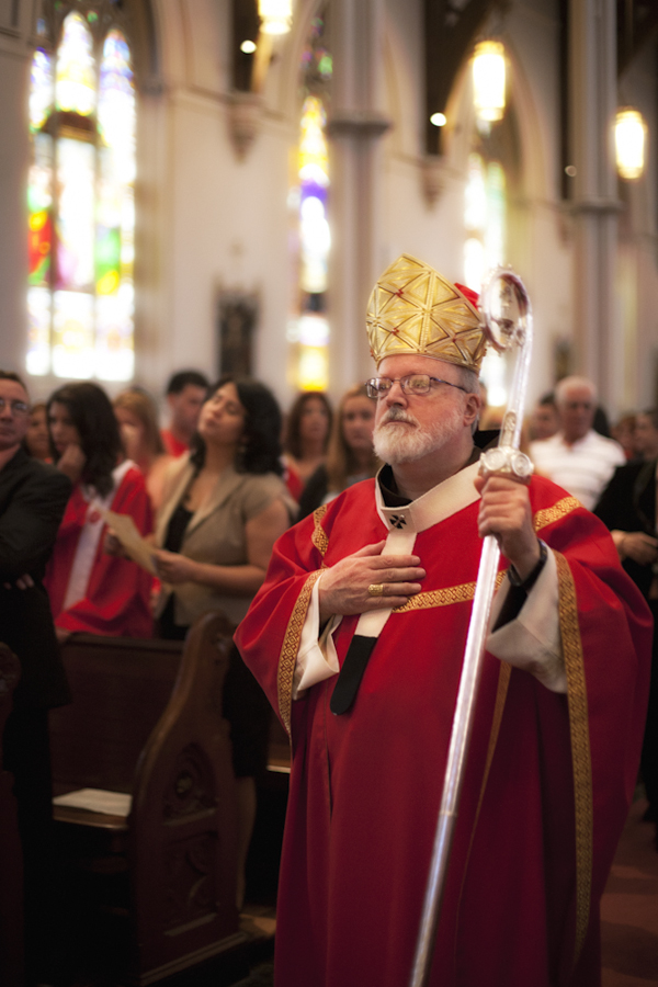 Cardinal O'Malley at the Cathedral of Holy Cross.