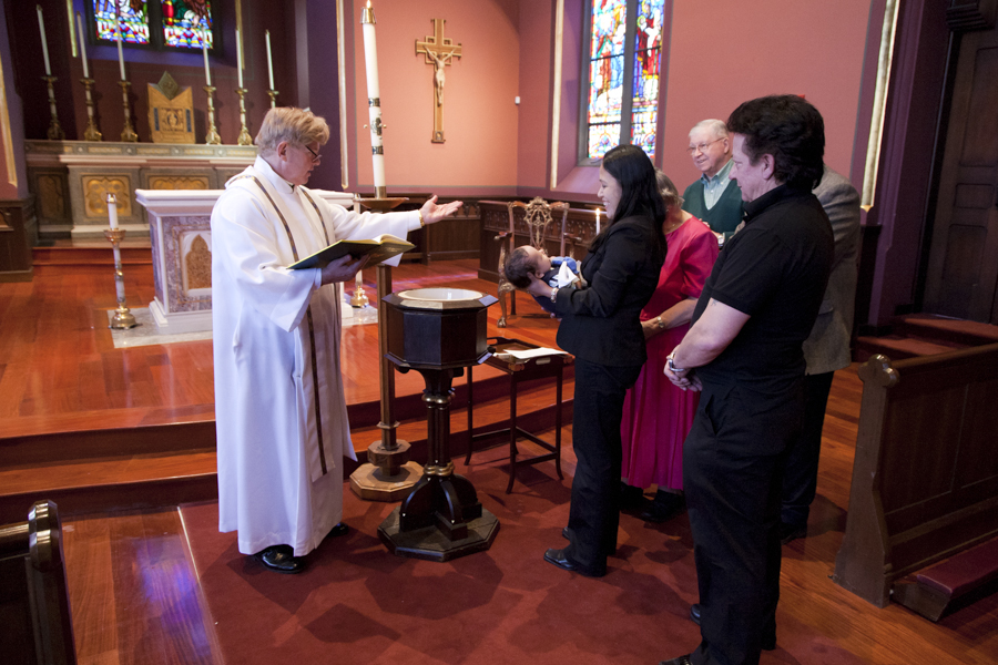 baptism at the Cathedral of the holy cross