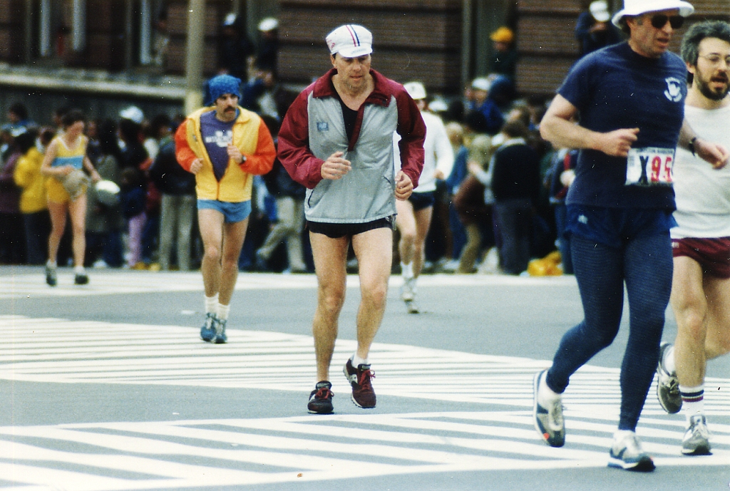 My good friend Tom Carmody, 1985, ran from Boston to Hopkington, then from Hopkington to Boston to get ready for a 12 hour race later in the year.