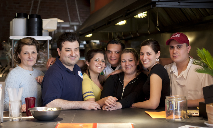 The crew from the all star sandwich shop, the best sandwich in Boston