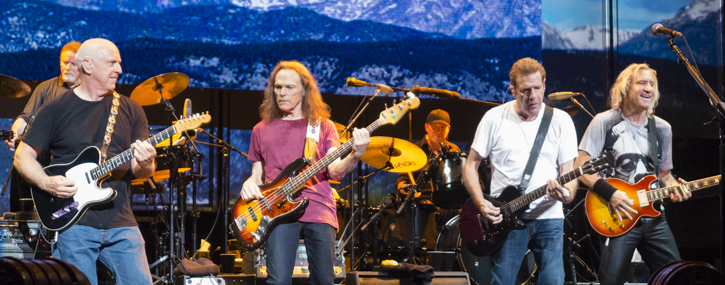 The Eagles...I used a point and shoot as I couldn't get my big camera in.  Don Henley, Bernie Leadon, Timothy B Schmit, Glenn Frey, and Joe Walsh