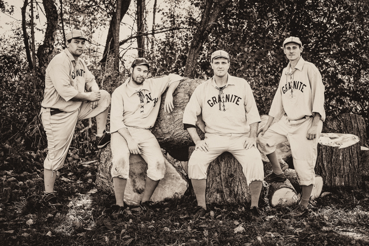 I remember these gentlemen from The Granite State vintage baseball team posing for me...