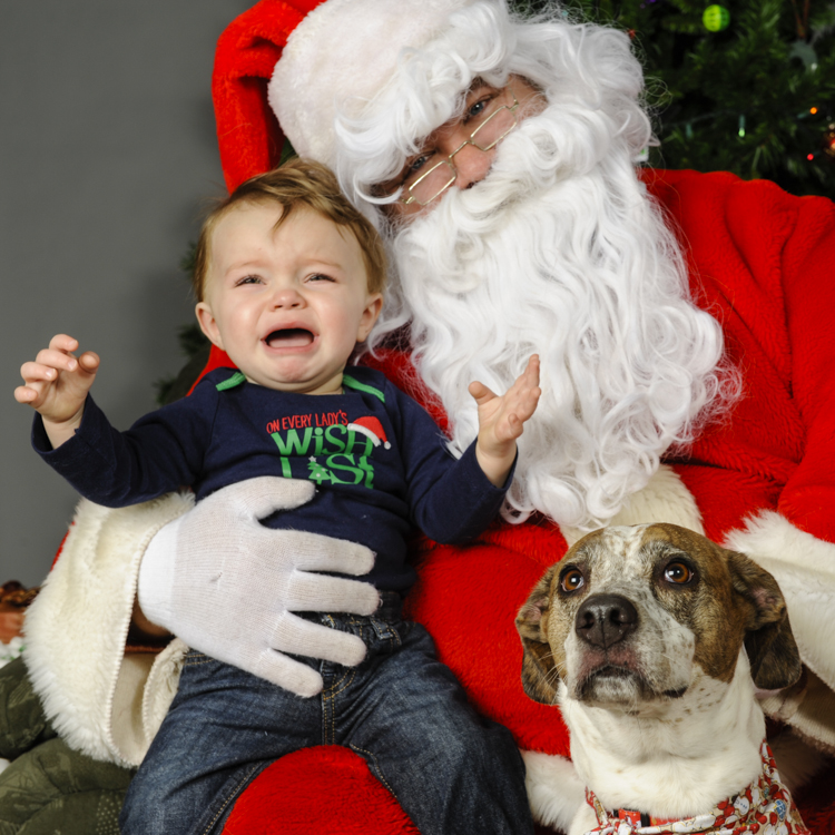 Santa with one unhappy customer