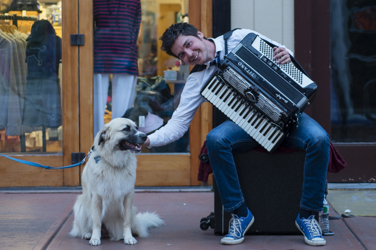 pepper with busker