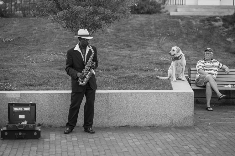 chloe with sax man