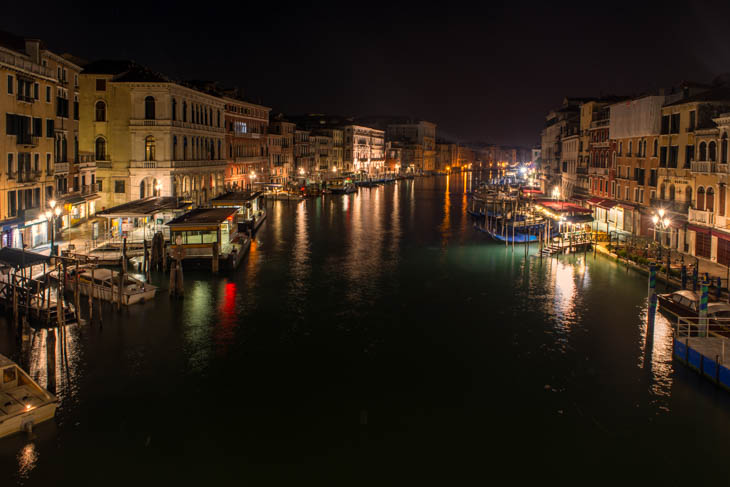 Venice from the Rialto Bridge at 6 am