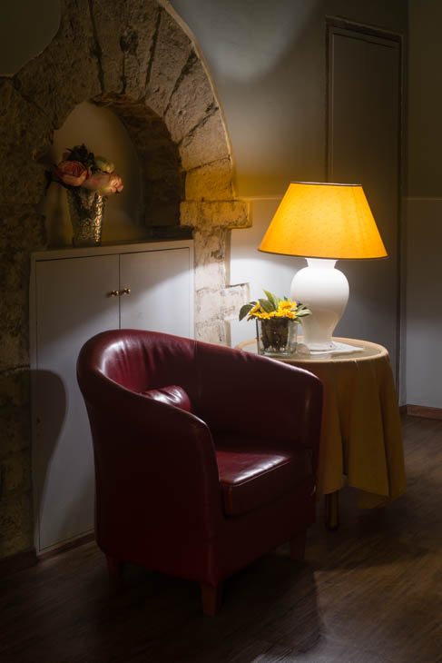 sitting room at the Terre Guelfe