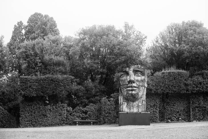 sculpture in the garden of the Pitti Palace