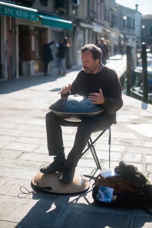 street musician, Murano