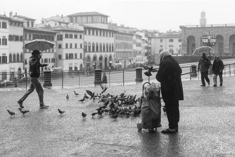 I remember...the soft warm rain in Florence, Italy...