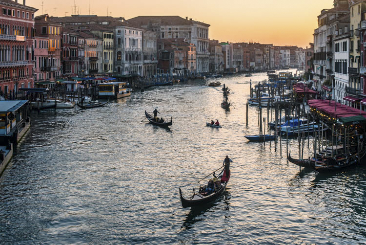 I remember...Venice from the Rialto Bridge a dusk...