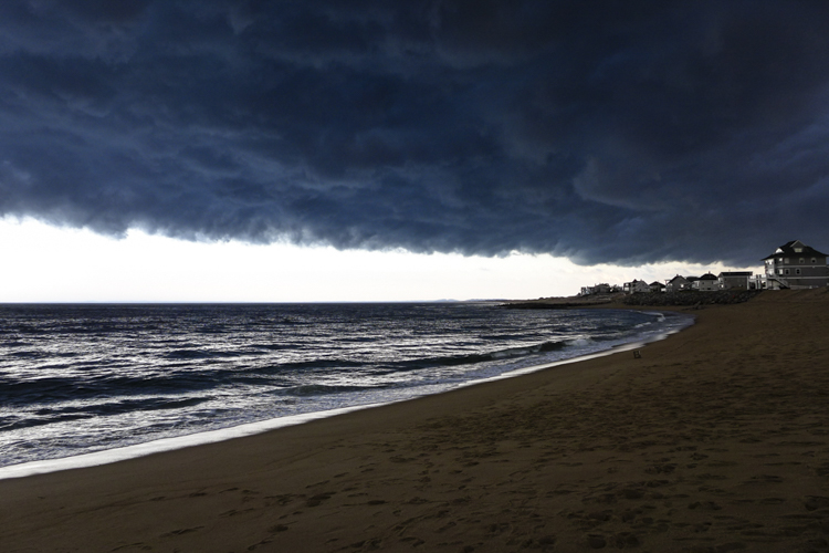 I remember...this amazing summer storm ready to hit Plum Island.   I had gone to the beach to do a swim but decided against it!