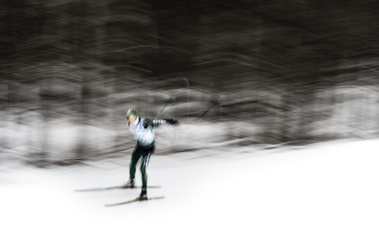 I remember...this skiier racing at the Trapp Family Lodge in Stowe, Vermont...