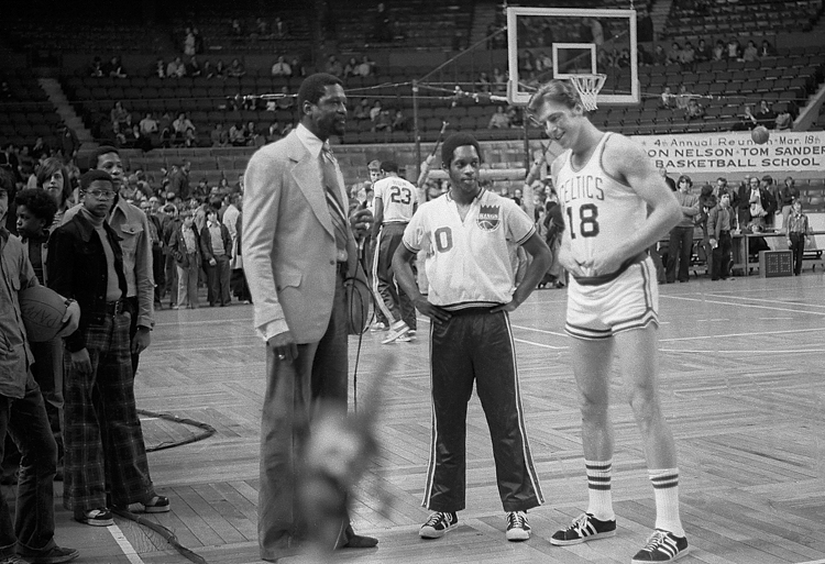 I added this throwback just for fun. I took this photo 46 years ago, when I was 13! When did I get this old?! This is 1970, Tiny Archibald and Dave Cowens' rookie year, here being interviewed by bill russell, my favorite athlete of all time...