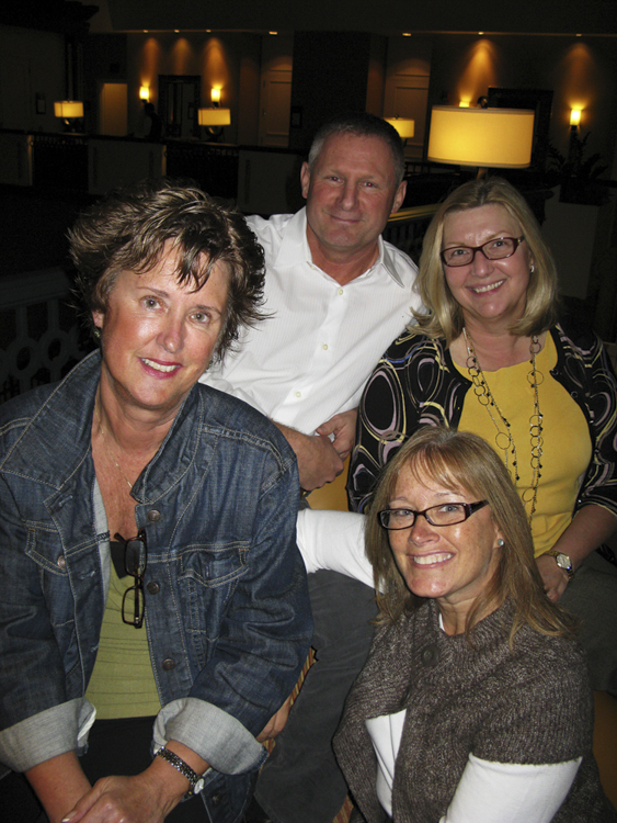 hanging out waiting for the concert to start with friends Patti, mary beth, and me