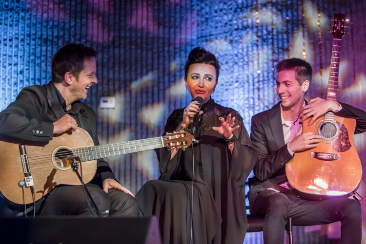 amira from bosnia, in her first concert in the USA, surrounded by her favorite guitarists including Nikola Stajic on the right