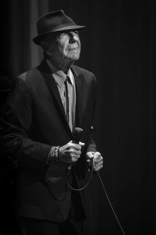 "The late Leonard Cohen who died in 2016. This is Leonard in 2012 at The Wang Center in Boston. ""Ring the bells that still can ring / Forget your perfect offering / There is a crack in everything / That's how the light gets in."""