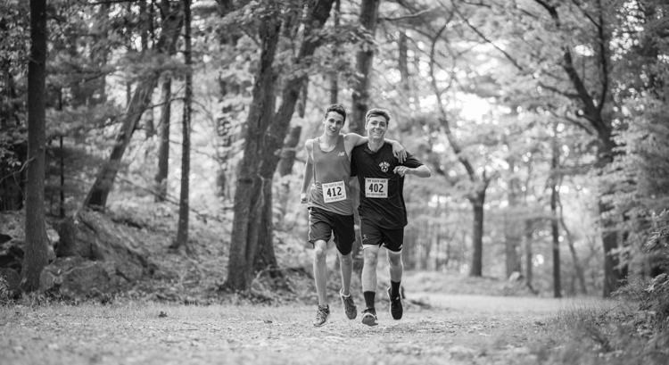friends from Swampscott running at Lynn woods