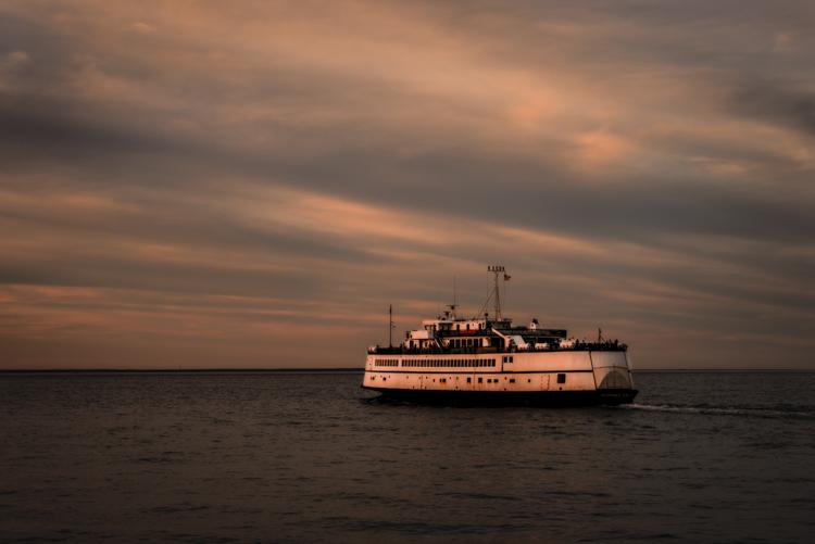 Martha's Vineyard Ferry at dusk