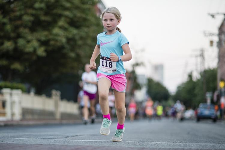 determined runner in the salem mile race