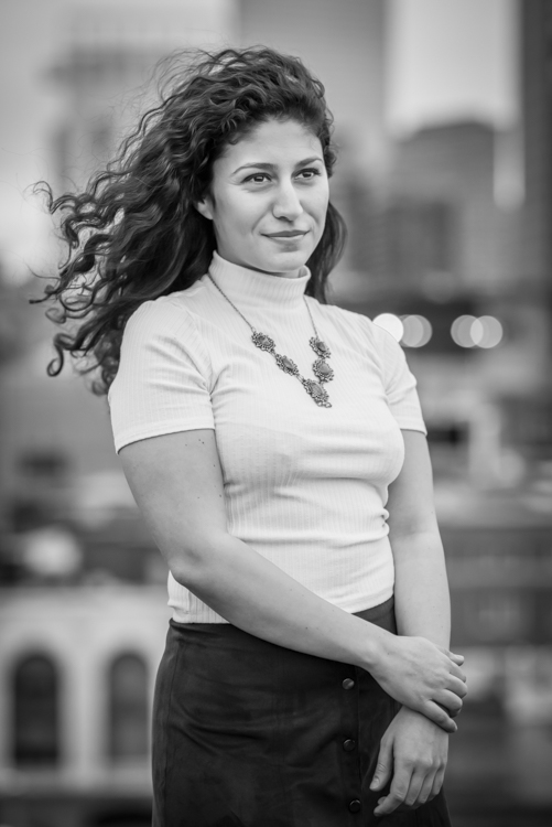 elif cakmut from turkey, berklee college of music, on our rooftop shoot in Boston